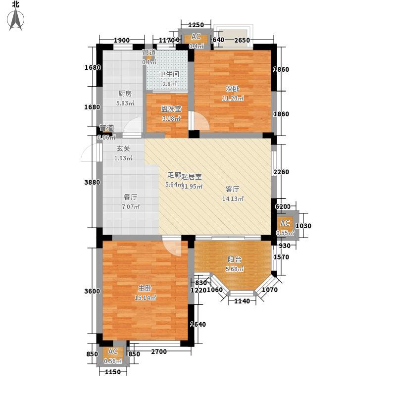 梅里香舍二期85.43㎡梅里香舍二期户型图E户型2室2厅1卫1厨户型2室2厅1卫1厨