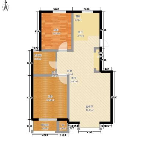 金浜小区2室1厅1卫0厨122.00㎡户型图