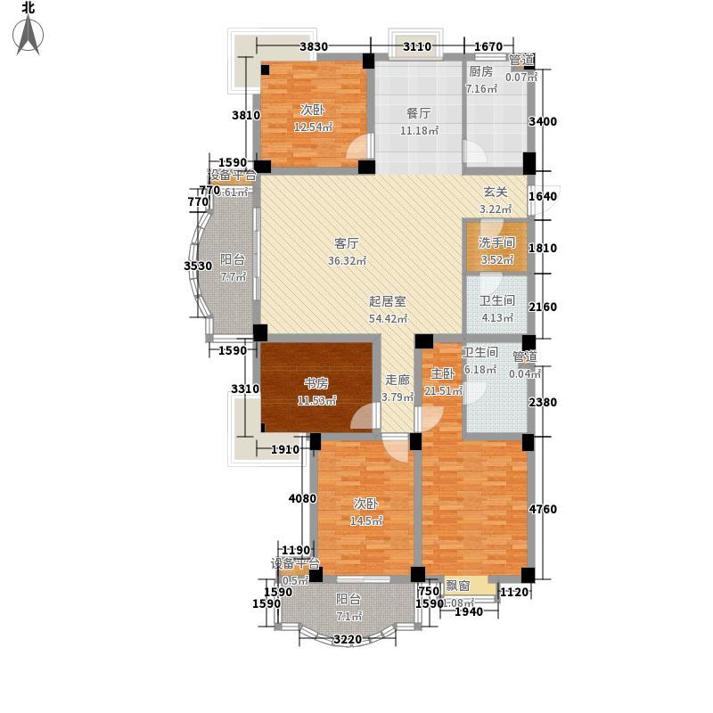 时代景城170.61㎡时代景城户型图3室2厅2卫户型10室