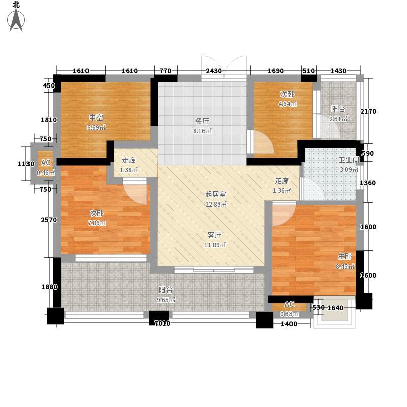 越地・香港花园79.26㎡越地・香港花园E12室2厅1卫1厨79.26㎡户型2室2厅1卫1厨