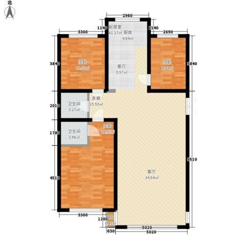 东方之珠龙兴苑3室0厅2卫0厨145.00㎡户型图
