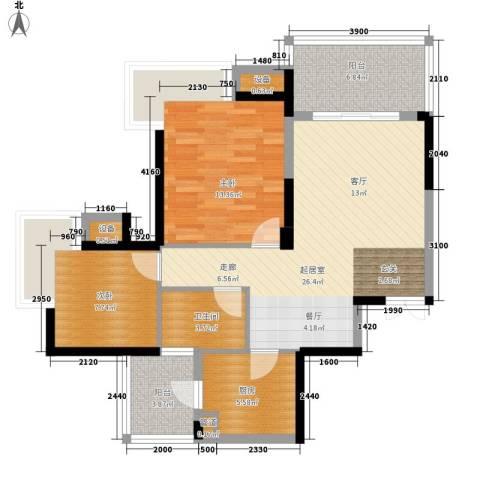 劲力五星城2室0厅1卫1厨99.00㎡户型图