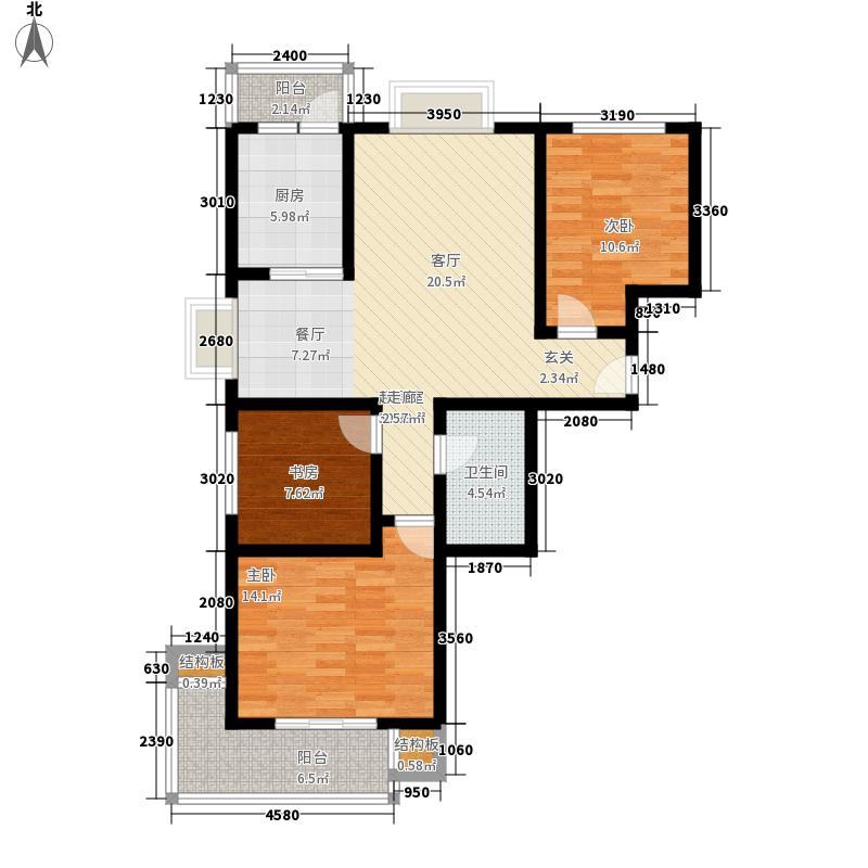易城112.85㎡易城户型图1-3#F户型3室2厅1卫1厨户型3室2厅1卫1厨
