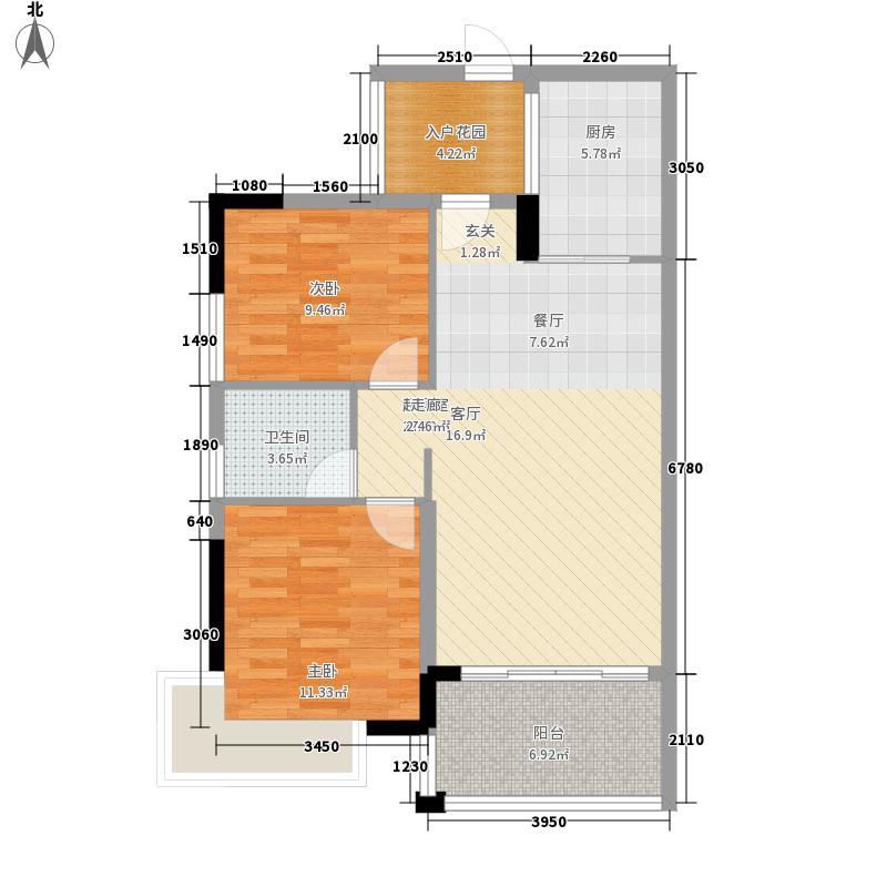 沃华・中环广场91.23㎡沃华・中环广场户型图一座标准层05户型3室2厅户型3室2厅