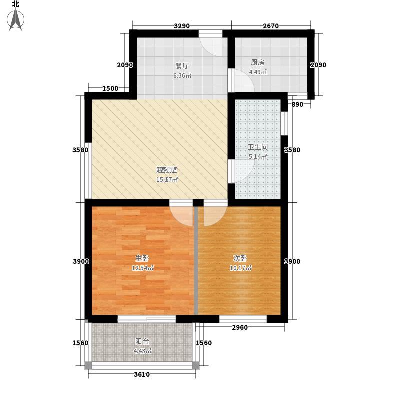 易城85.30㎡易城户型图6-8#B户型2室2厅1卫1厨户型2室2厅1卫1厨