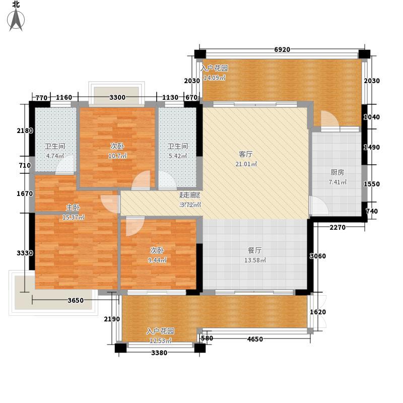 沃华・中环广场135.00㎡沃华・中环广场户型图1、2幢01户型标准层3室2厅户型3室2厅