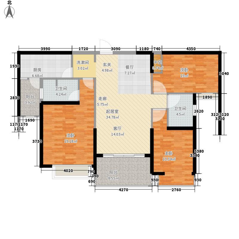 恒大帝景122.02㎡恒大帝景户型图122.02平米户型3室2厅2卫1厨户型3室2厅2卫1厨