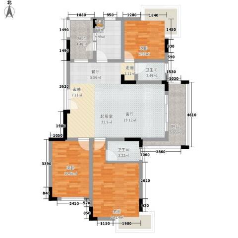 金丰花园(万江)3室0厅2卫1厨100.33㎡户型图