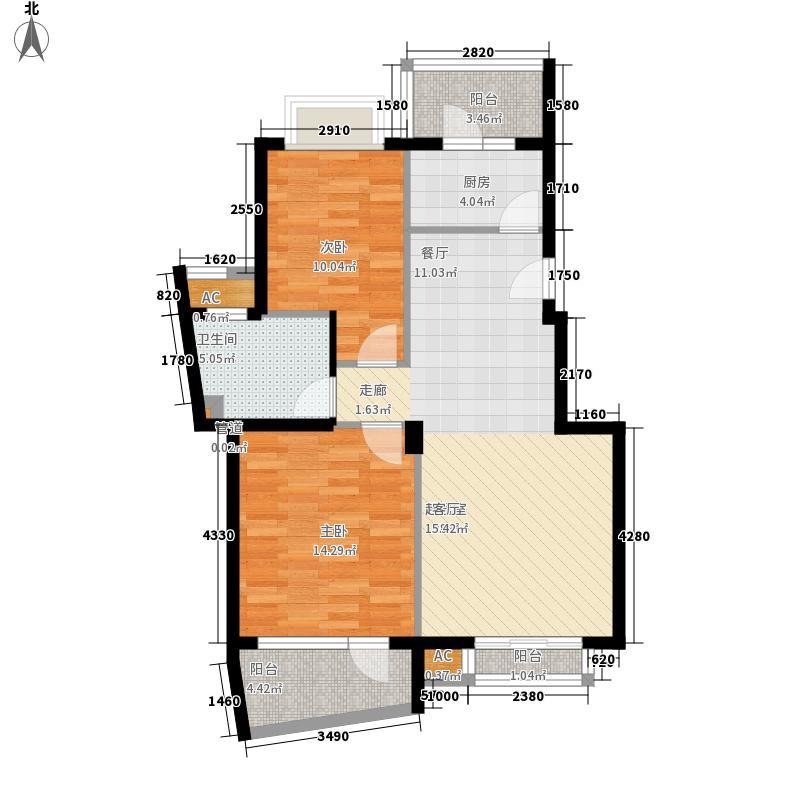 名人港湾102.00㎡名人港湾户型图12室1厅1卫1厨102.00㎡户型2室1厅1卫1厨