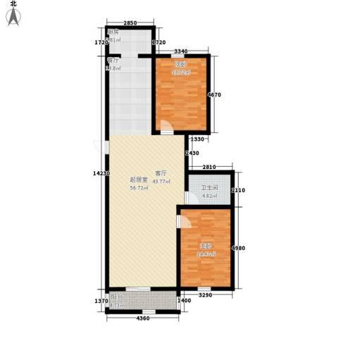锦江花园三区2室0厅1卫0厨106.00㎡户型图