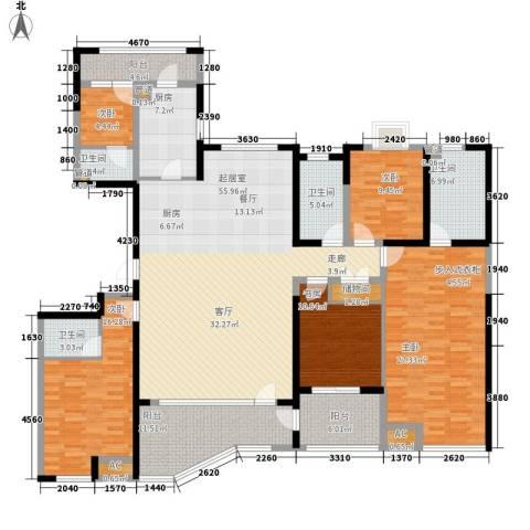 绿地塞尚公馆5室0厅4卫1厨198.00㎡户型图
