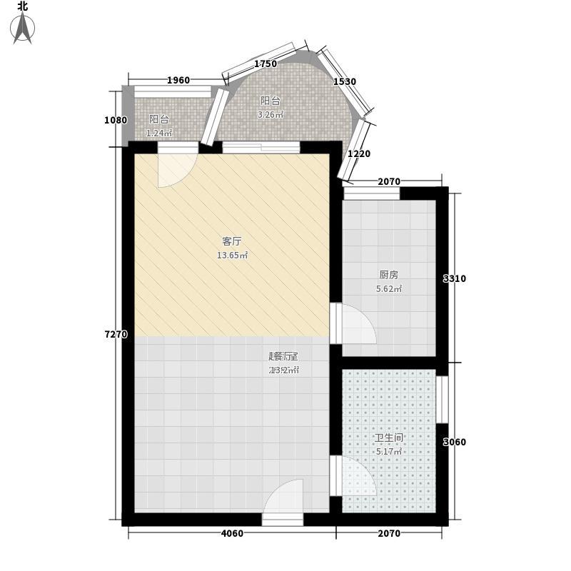 香庭海岸48.79㎡香庭海岸户型图一期高层D户型1室1厅1卫户型1室1厅1卫