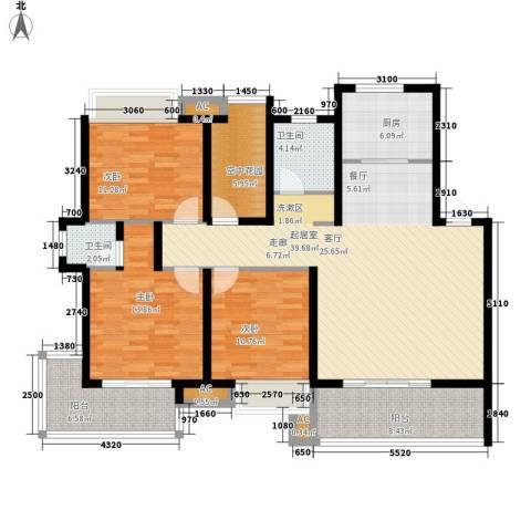 盛通・拂晓3室0厅2卫1厨127.00㎡户型图