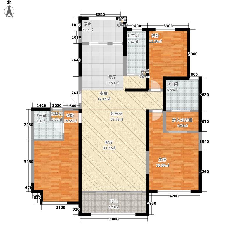 绿地塞尚公馆202.00㎡绿地塞尚公馆户型图A8户型3室2厅3卫户型3室2厅3卫