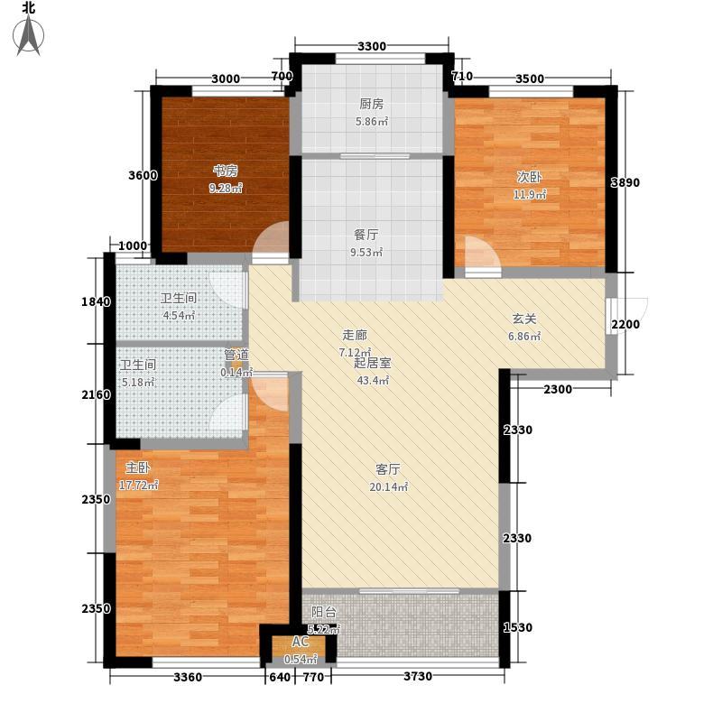 绿地塞尚公馆146.00㎡绿地塞尚公馆户型图A8―A10户型3室2厅2卫户型3室2厅2卫