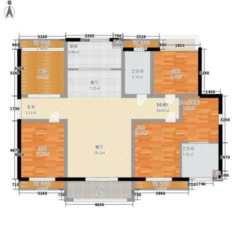 香榭一品3室1厅2卫1厨176.00㎡户型图