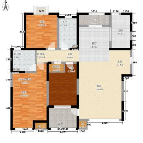 绿地塞尚公馆3室0厅2卫1厨152.79㎡户型图