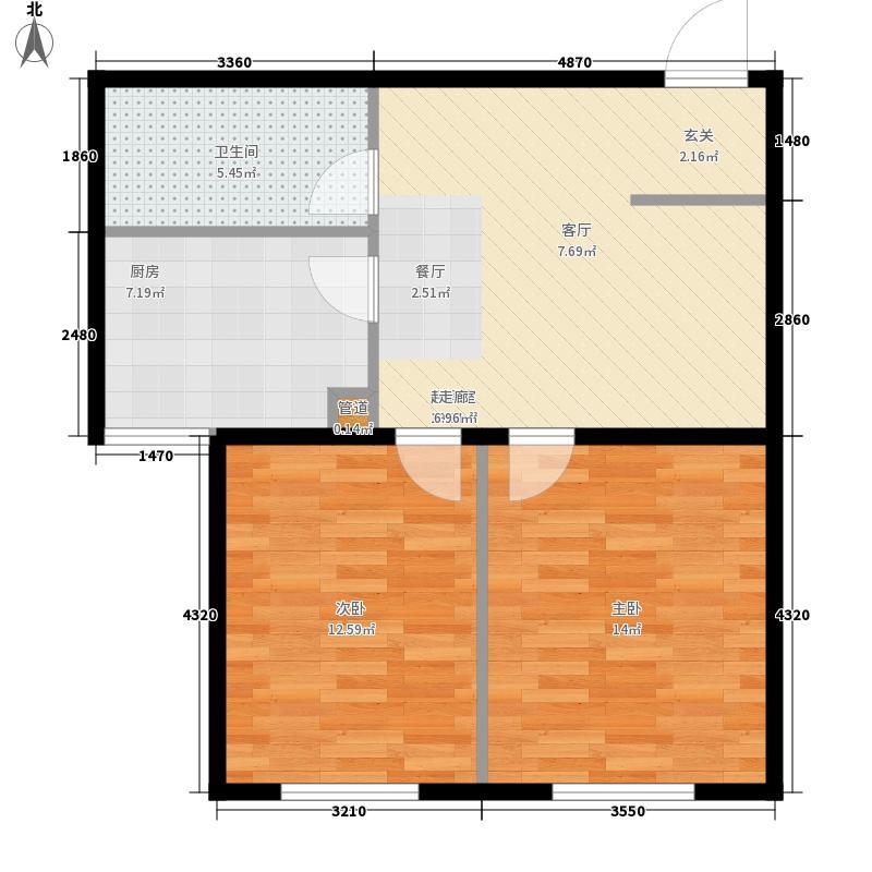 长河湾65.00㎡长河湾户型图A03户型2室1厅1卫户型2室1厅1卫