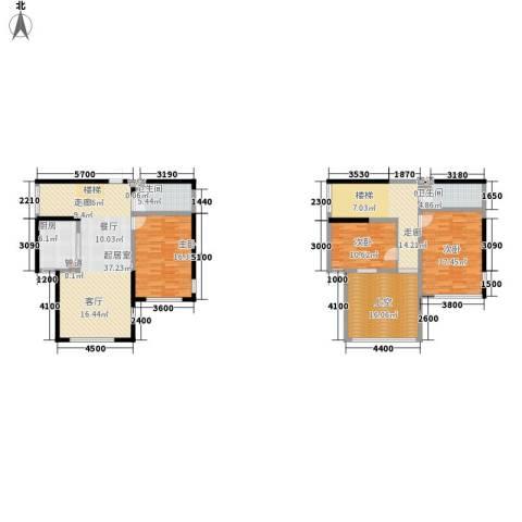 绿地塞尚公馆3室0厅2卫1厨146.35㎡户型图