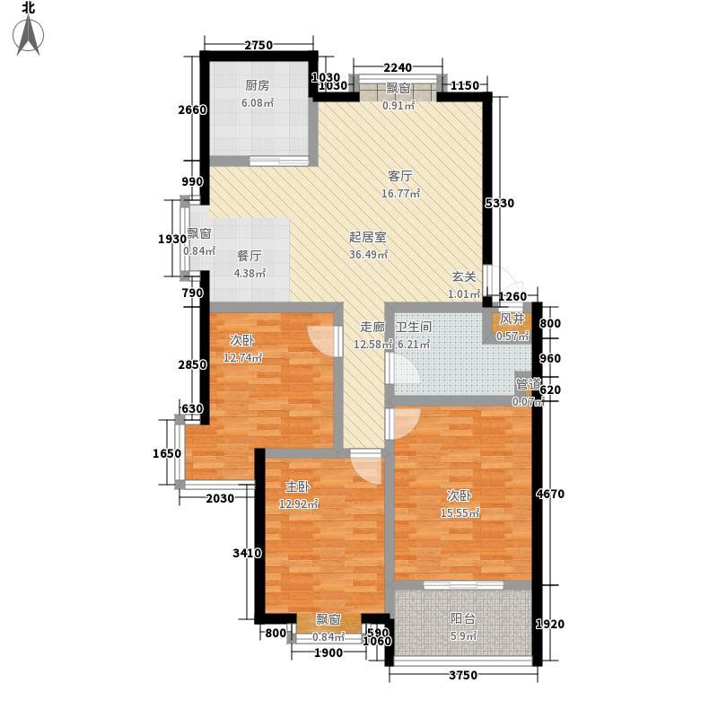 东方水岸111.00㎡东方水岸户型图户型图3室2厅1卫1厨户型3室2厅1卫1厨