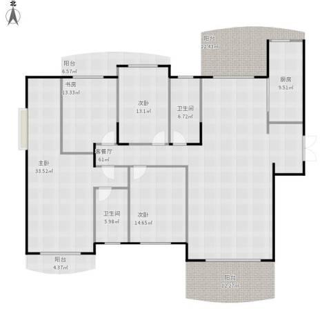 德远未来之城4室1厅2卫1厨225.00㎡户型图