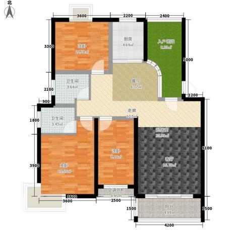 金桥慧景3室0厅2卫1厨108.00㎡户型图