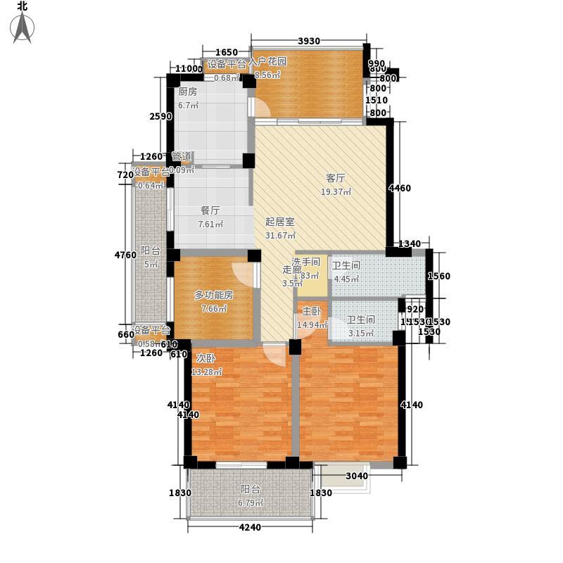 丽景天成二期户型图3室2厅2卫