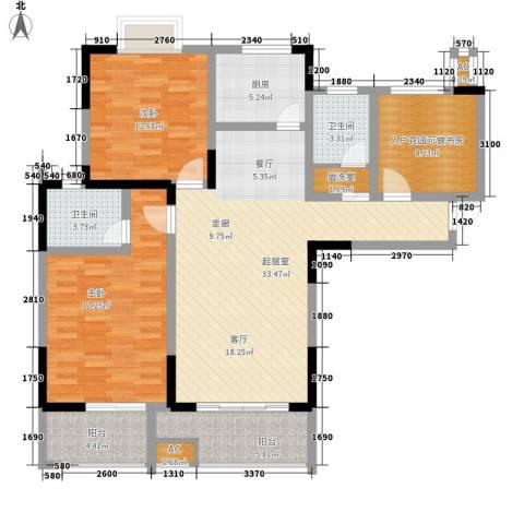 经典华城一期梧桐语2室0厅2卫1厨112.00㎡户型图