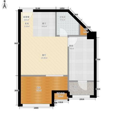 苏荷时代1室0厅1卫1厨65.00㎡户型图