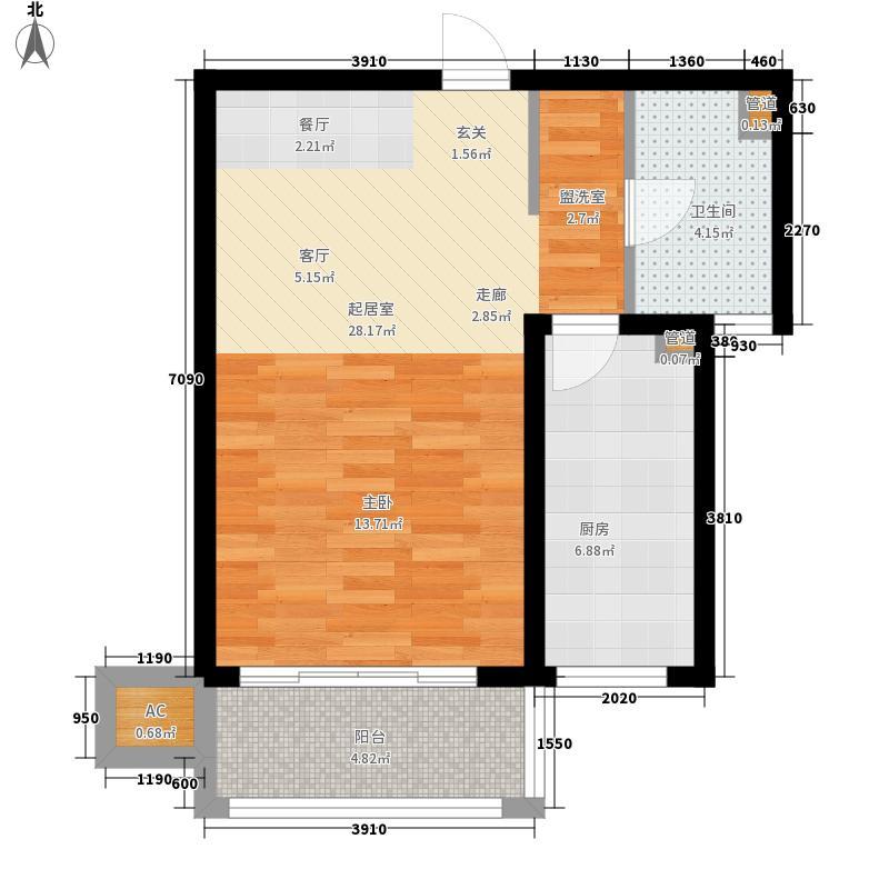 梅里香舍二期52.02㎡梅里香舍二期户型图Md户型1室1厅1卫1厨户型1室1厅1卫1厨