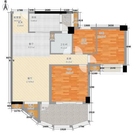 颐和上院3室0厅1卫1厨100.00㎡户型图