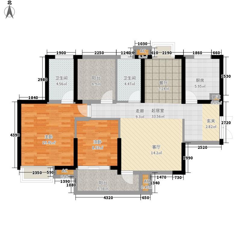 新长江香榭湾114.00㎡新长江香榭湾户型图E户型2室2厅2卫1厨户型2室2厅2卫1厨