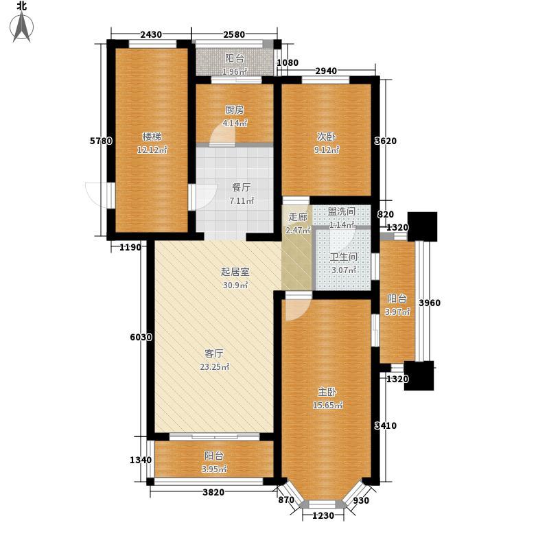 富泉花园公寓99.14㎡富泉花园公寓户型图维也纳园D1-4E平层-2E平层-23室1厅1卫1厨户型3室1厅1卫1厨
