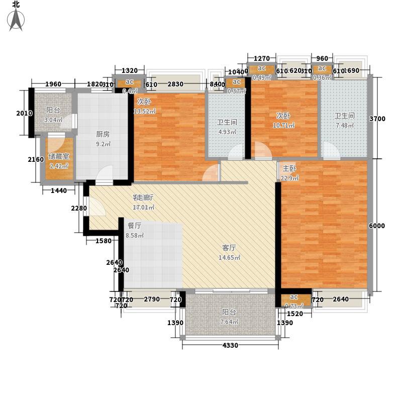 成都ICC住宅173.00㎡成都ICC4号楼户型3室2厅