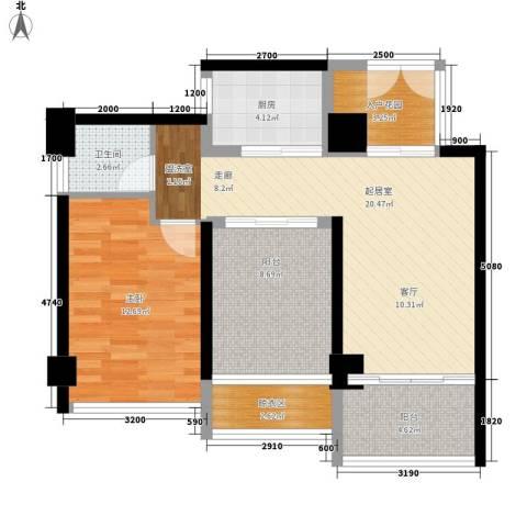 永茂荔枝花园1室0厅1卫1厨89.00㎡户型图
