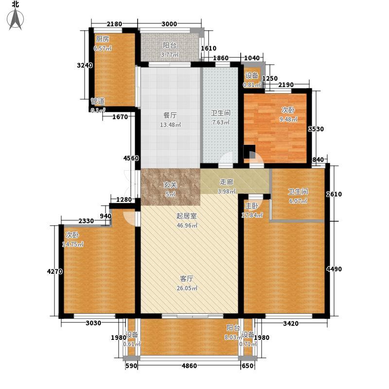 中海丁香花园141.81㎡中海丁香花园户型图5#楼E户型3室2厅2卫1厨户型3室2厅2卫1厨