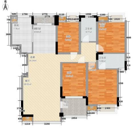 南山・苏迪亚诺4室0厅2卫1厨142.00㎡户型图