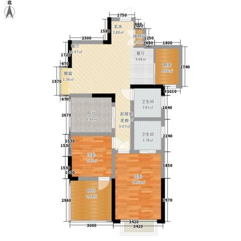 童话里二期2室0厅2卫1厨89.00㎡户型图