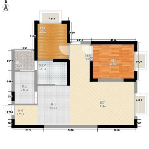 童话里二期2室0厅1卫1厨88.00㎡户型图