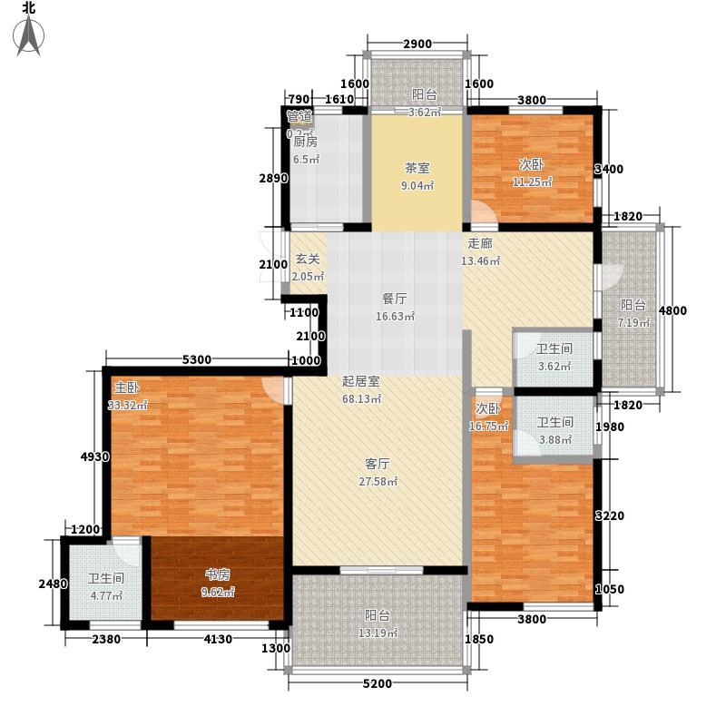 国耀一方城215.00㎡国耀一方城户型图19#楼01奇数层户型4室2厅3卫1厨户型4室2厅3卫1厨