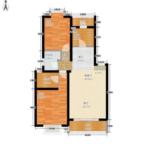 胜利小区2室1厅2卫1厨75.00㎡户型图