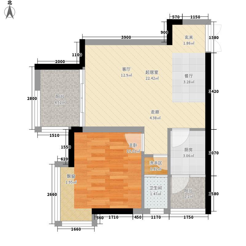 泽洋园56.93㎡泽洋园户型图1、2栋标准层C、D户型1室1厅1卫户型1室1厅1卫