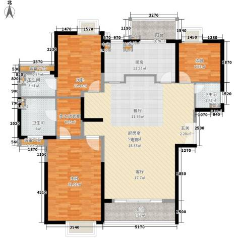 南国奥园洛杉矶区3室0厅3卫1厨187.00㎡户型图
