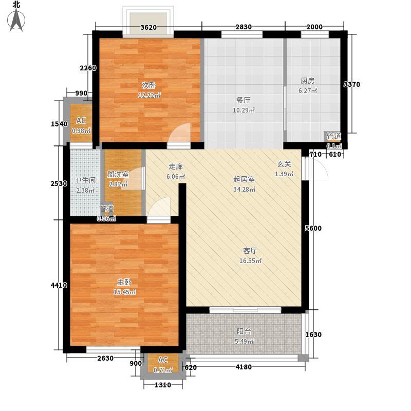 梅里香舍二期92.40㎡梅里香舍二期户型图D户型2室2厅1卫户型2室2厅1卫