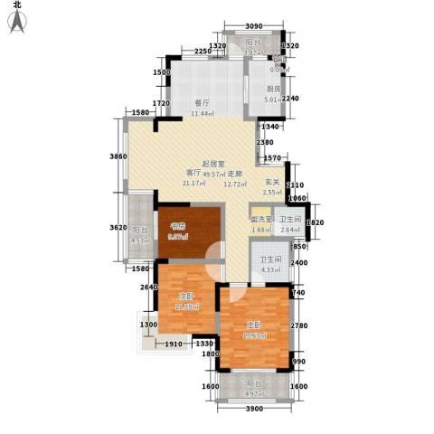 博威香槟小镇3室0厅2卫1厨130.00㎡户型图