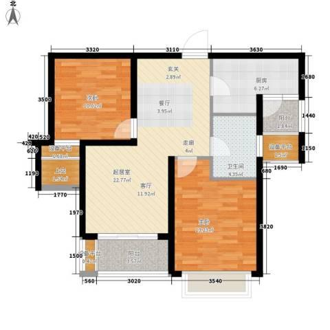 永和家园2室0厅1卫1厨97.00㎡户型图