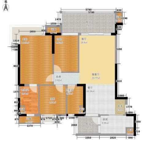 碧桂园凤凰城凤锦苑3室1厅2卫1厨118.00㎡户型图