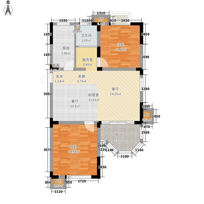 梅里香舍二期85.43㎡梅里香舍二期户型图E户型2室2厅1卫户型2室2厅1卫