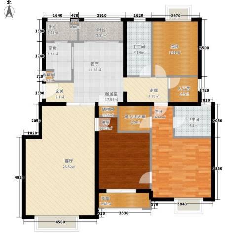 天恒乐活城D53室1厅2卫1厨150.00㎡户型图
