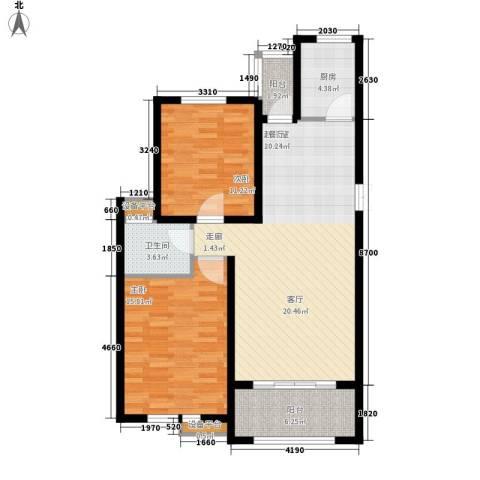 城市驿站2室0厅1卫1厨76.25㎡户型图